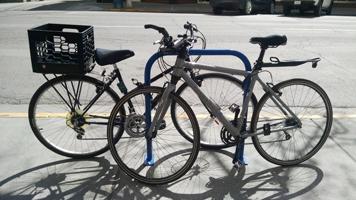 Bike Staple Two Bikes